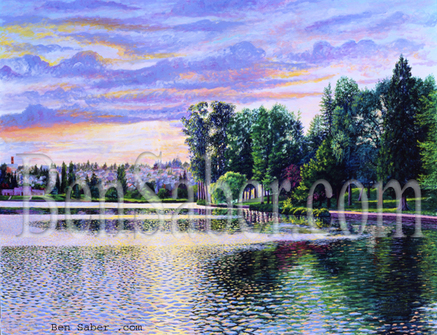 Vue of Greenlake in Seattle Picture