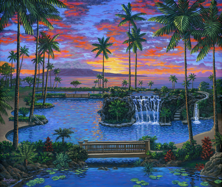 Marriott Maui, Kaanapali beach Hawaii painting Picture