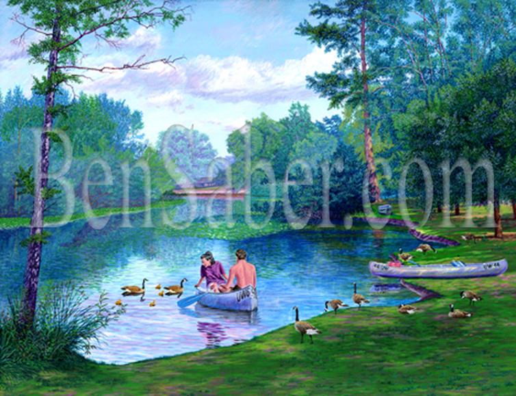 Picture,painting,Student couple at the University of Washington Arboretum in Seattle