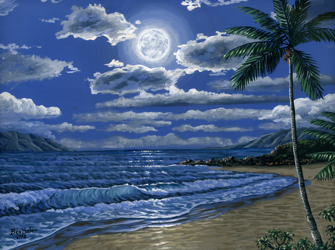 Kaanapali beach Maui painting Picture